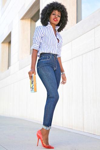 blogger shirt jeans bag shoes
