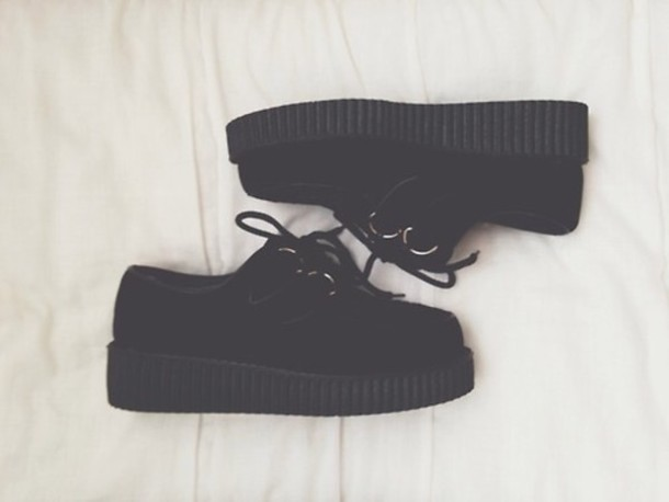 shoes grunge shoes platform shoes black shoes creepers