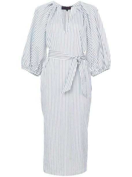 MARTIN GRANT dress shirt dress women midi white cotton
