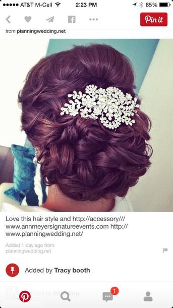 hair accessory crystal hair piece for wedding