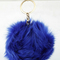 Puff pom key chain bag charm