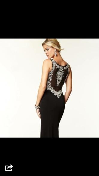 dress black sparkle formal prom