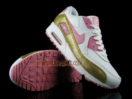 White Pink Gold Nike Womens Air Max 90 Cheap Discount Sale-Buy Nike Air Max 90 Womens Sneaker