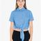 Denim mid-length tie-up top | american apparel