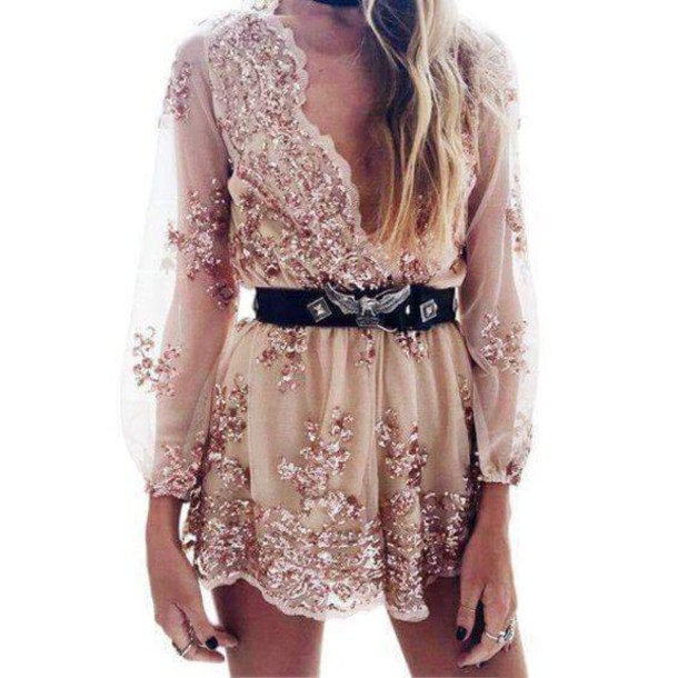 767ecab4601f jumpsuit pink rose flowers see through lingerie summer pink jumpsuit floral  hipster girly tumblr dress belt