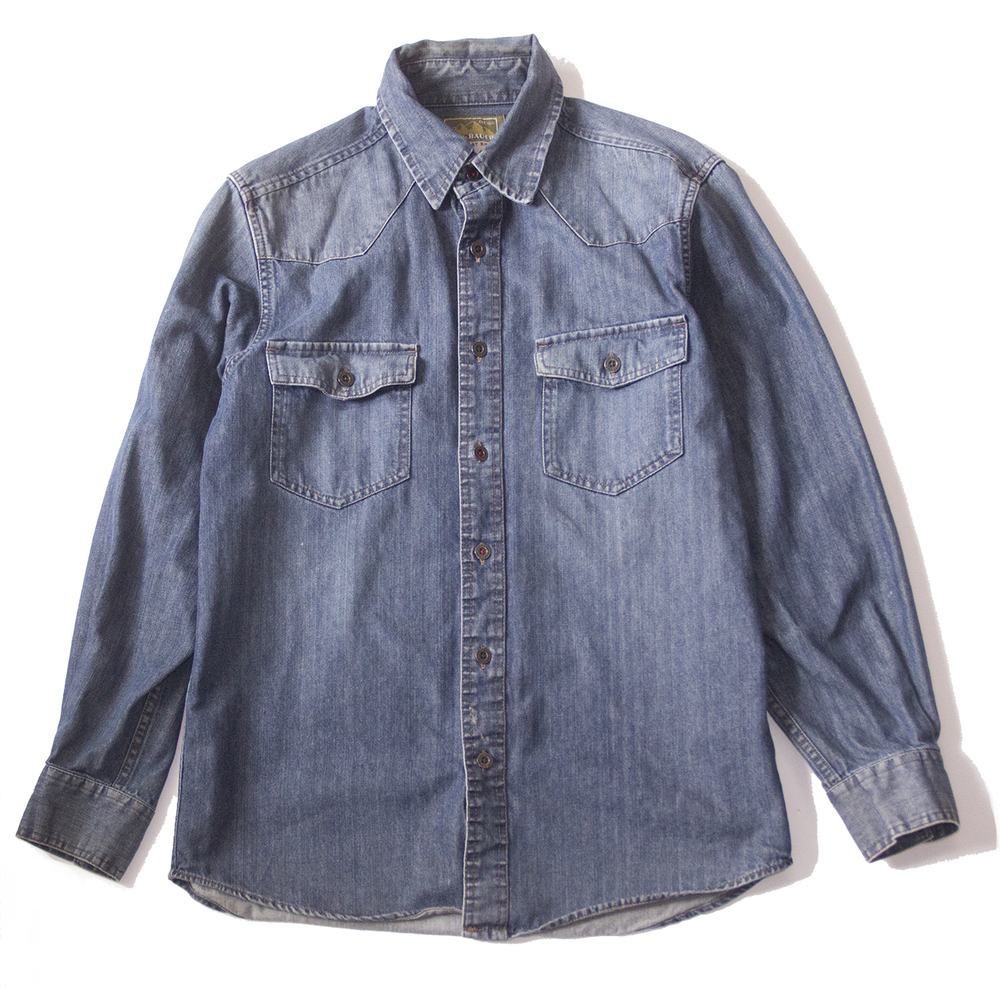 Eddie bauer heavy denim shirt