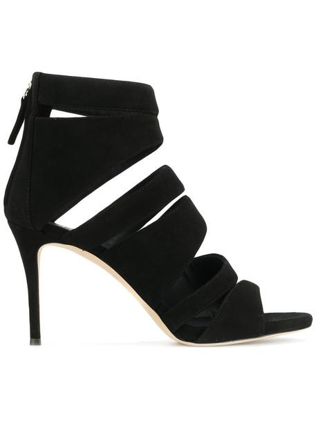 GIUSEPPE ZANOTTI DESIGN women alien sandals leather suede black shoes