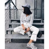 pants,trendy,white pants,fashion,stylish,loose fitted pants,na-kd,NA-KD Fashion