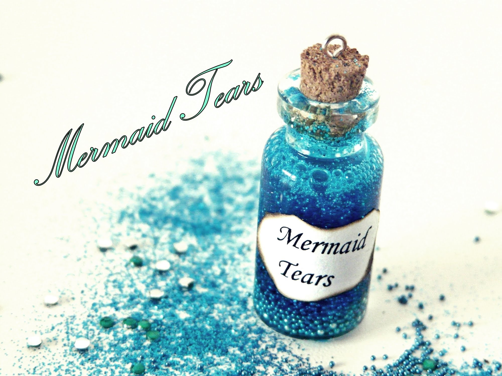 Mermaid Tears Miniature Bottle Charm - YouTube