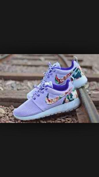 shoes, purple shoes, purple, roshe runs