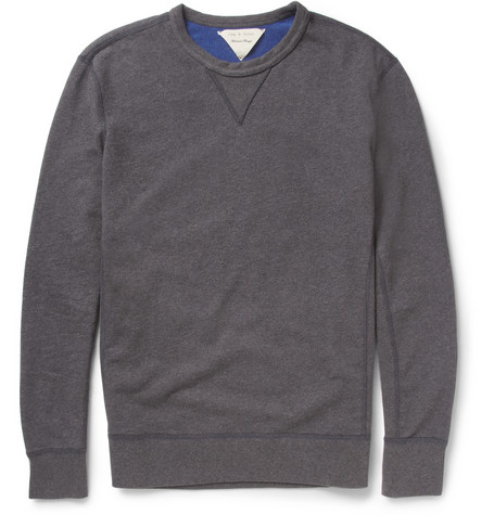 PRODUCT - Rag & bone - Reversible Loopback Cotton-Jersey Sweatshirt - 373941 | MR PORTER
