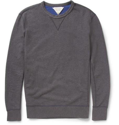 PRODUCT - Rag & bone - Reversible Loopback Cotton-Jersey Sweatshirt - 373941|MR PORTER