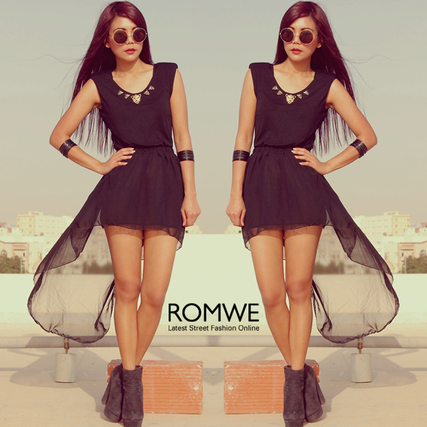 ROMWE | UV Protection Tawny Rounded Sunglasses, The Latest Street Fashion