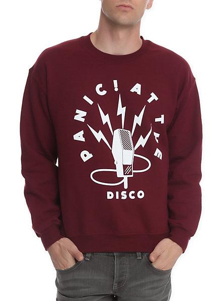Panic! At The Disco Mic Crewneck Sweatshirt   Hot Topic