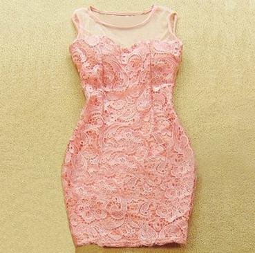 Temperament sexy lace package hip dress  BAFJ / Fashion Designer