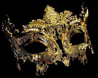 mask jewels gold diamonds masquerade