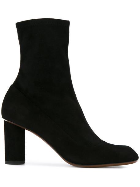 Christopher Esber women leather suede black shoes