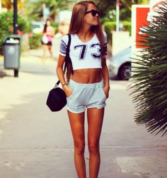 shorts cotton comfy comfy comfy shorts swag pretty kristine ullebo grey beautiful shirt black white