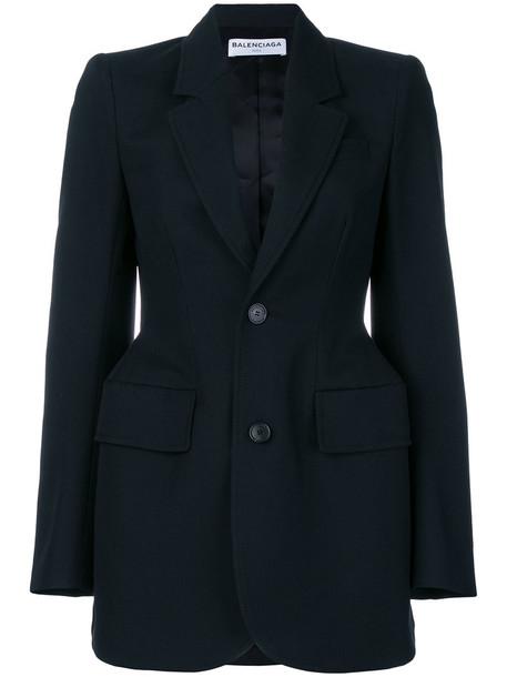 Balenciaga blazer women black wool jacket
