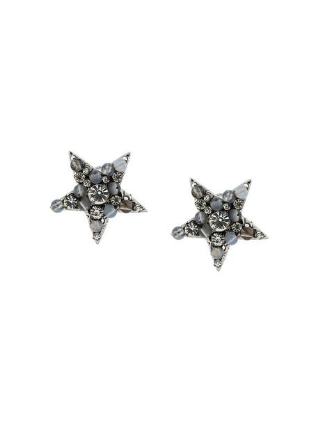 RADÀ women earrings stud earrings grey metallic jewels