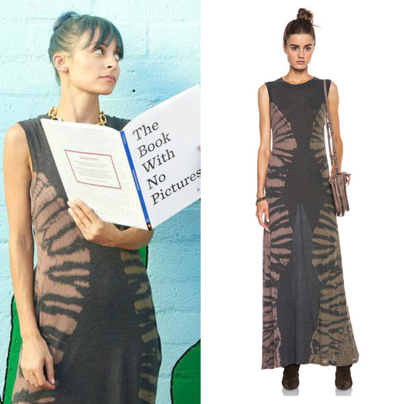 dress nicole richie maxi dress