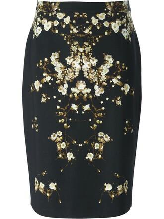 skirt print black