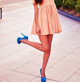 shoes blue pumps blue high heels high heels pumps blue dress pink pink dress