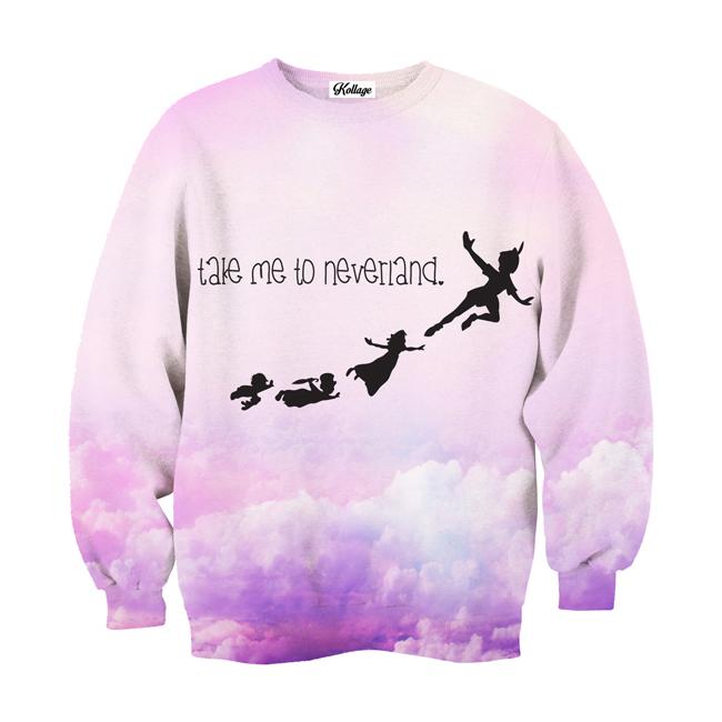 Take Me To Neverland Crew Neck Sweatshirt