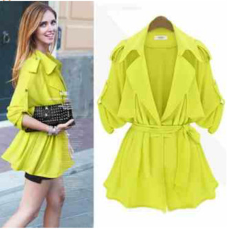 blouse cardigan lime sleek