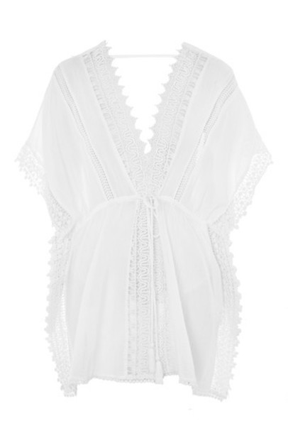 Topshop white crochet top