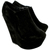 Wedge High Heel Platform Suede Ankle Shoe Boots