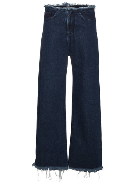 MARQUES'ALMEIDA jeans women cotton blue