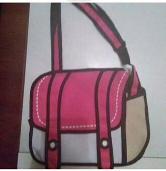 bag pink white white bag pink bag kawaii kawaii bag messenger bag