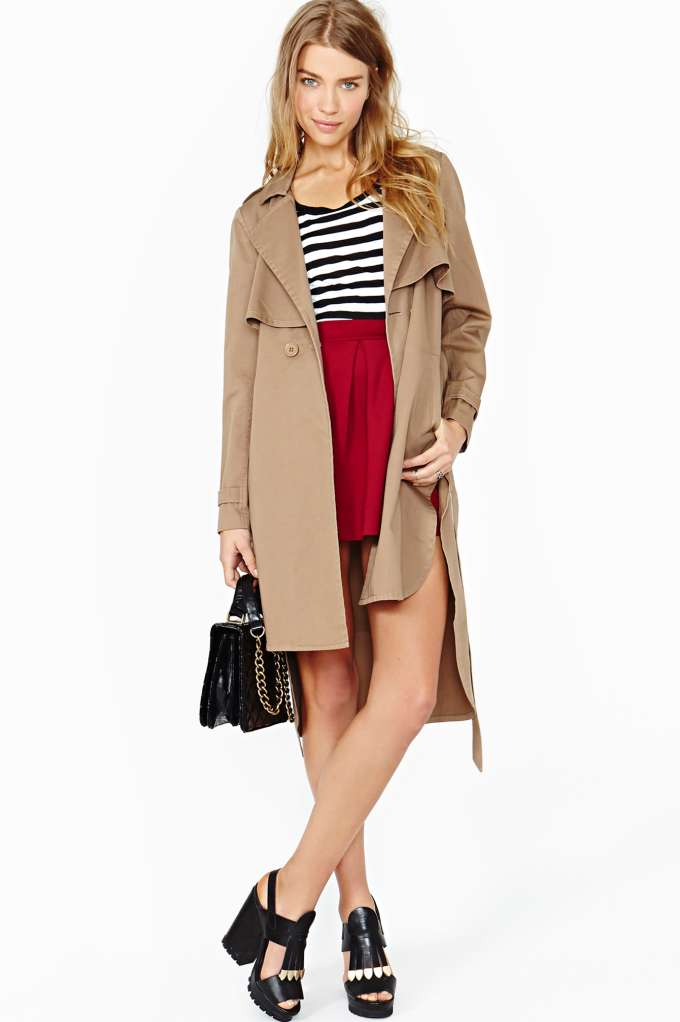 Nasty Gal Secret Admirer Trench Coat in  Promo Colors at Nasty Gal