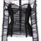 Dolce & gabbana - ruched bustier blouse - women - cotton/nylon/spandex/elastane - 38, black, cotton/nylon/spandex/elastane
