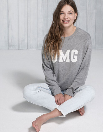 sweater slogan t-shirts grey grey sweater