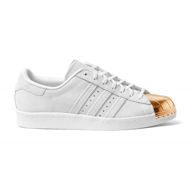 adidas superstar white gold metallic