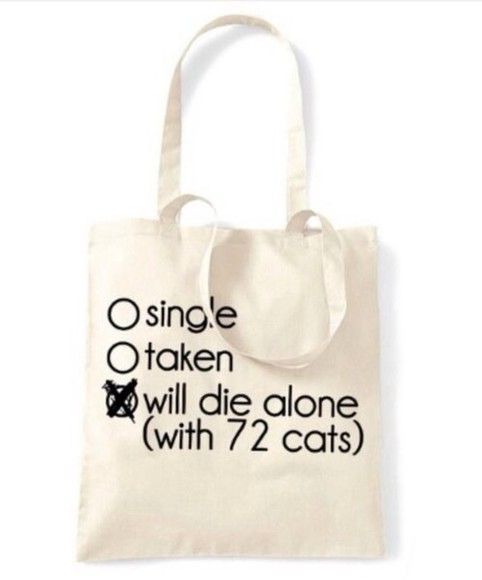 quote on it bag cats fun