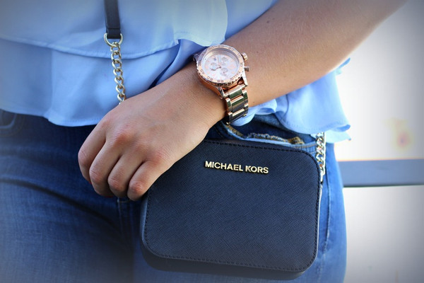bag michael kors michael korsbag black gold