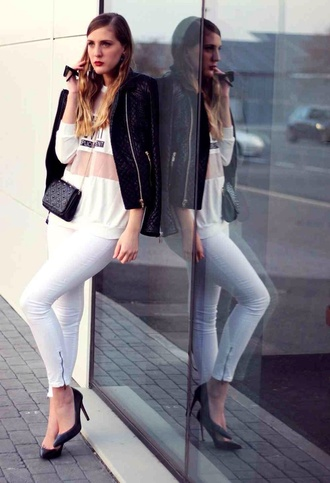 jeans zip at bottom white jeans