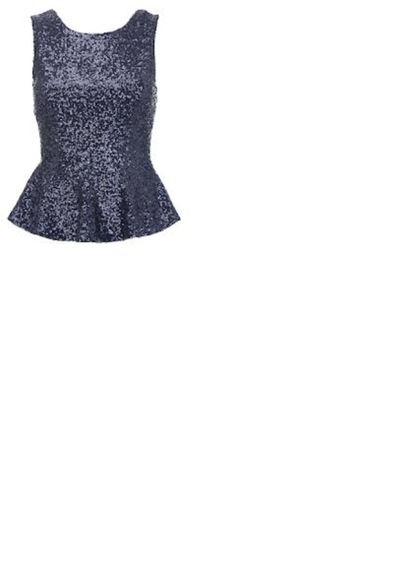 blouse peplum top blue glitter top glitter sexy wish lovely peplum top