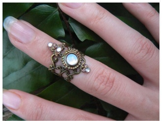 jewels ring beautiful hipster galaxy print antique cool grunge rustic floral