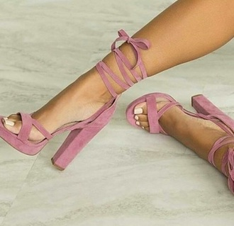 shoes sandals high heel sandals pink summer