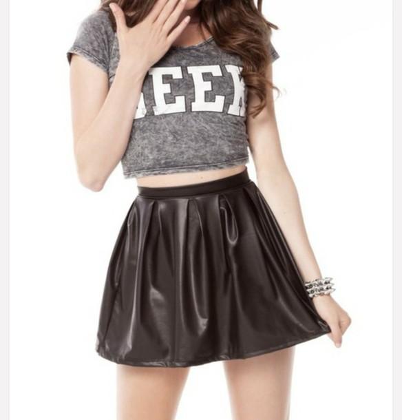 skirt black lether skirt black skirt lether skirt