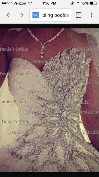 dress wedding dress bling wedding dress