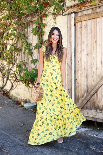 dress tumblr maxi dress floral maxi dress floral floral dress yellow yellow dress summer dress