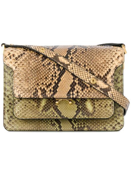 MARNI women python bag shoulder bag brown