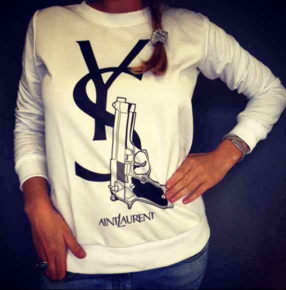 gun aint laurent without yves ysl shirt