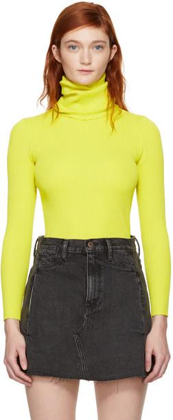 Simon Miller turtleneck yellow sweater