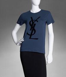Tee Shirt YSL Avec Logo en Coton Blanc - Yves Saint Laurent - Tops - Ready-To-Wear - Women - YSL